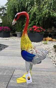Farbenfrohe Gans, Schönes Deko für Wohnbereich, Garten und Teich