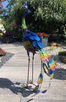 Pfau, Vogelskulptur, Garten- und- Wohnraumdekoration