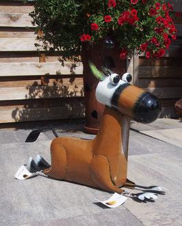 Esel, Skulptur aus Metall für Drinnen und Draußen