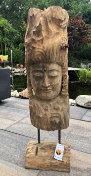 Holzstatue, Buddha ,Skulptur aus Edel Holz. Schönes Designerobjet. Unikat.