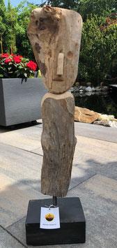 Holz- Skulptur aus Treibholz, Unikat für Drinnen und Draußen