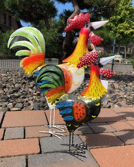 Gartenfiguren, Hühnerfiguren aus Metall. Tier- Skulpturen für Haus und Garten