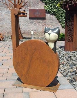 Katze, Skulptur aus Eisen