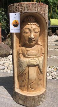 Buddha- Skulptur Statue aus Holz. Ein Unikat was seinesgleichen sucht.