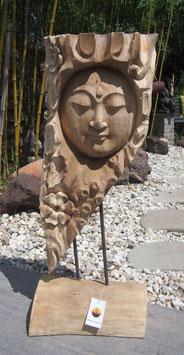 Buddha- Skulptur Statue aus Holz. Holzstele, Unikat