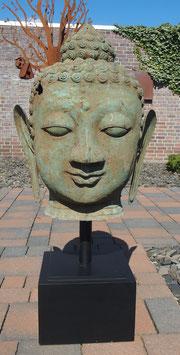 Bronze- Buddha- Skulptur Büste XXL