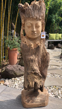 Wertvolle Buddha- Skulptur Statue aus Holz. Traumhaftes Unikat