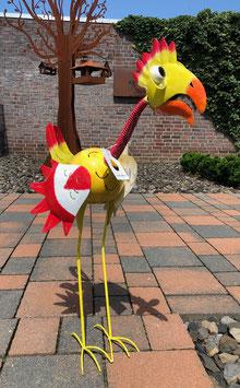 Vogelskulptur, Handgefertigt und liebevoll bemalt. Deko für Haus, Garten, Teich