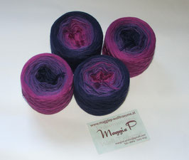 Mütze Ceana Zyklam-Lila-Violettblau  6-fädig