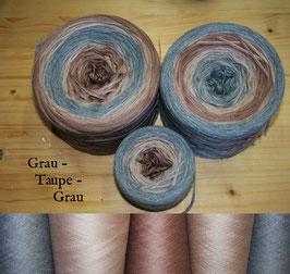 Grau-Taupe-Grau  (6-fädig)