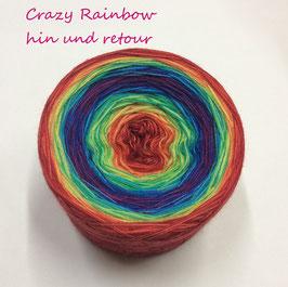 Crazy Rainbow (hin und retour / Rot-Pink-Rot)  4-fädig
