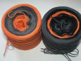 "Setwicklung Stripes ""Orange-Grau""  4-fädig Merino"