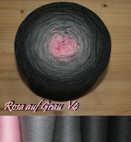 Rosa auf Grau V4 (6-fädig)