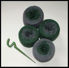 Mütze trachtig Grün  5-fädig
