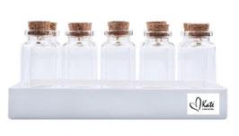 YG-11002 Glazen flesjes voor sieraden set van 10 stuks