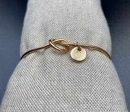 AE-02252 Bijoux cuff armband met knoop en letter N