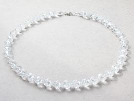 Edelsteinkette, Bergkristall, 10mm,925 Silber