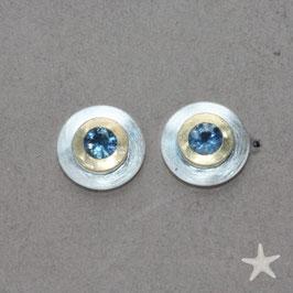 Ohrstecker mit Safir, 9mm