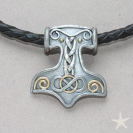 Herren Anhänger Thors Hammer mit Labradorit