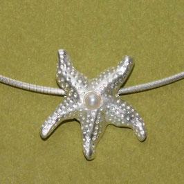 Seestern Anhänger,großer Seestern mit Perle