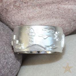 Maritimer Ring, maritime Motive Silber, 12mm breit