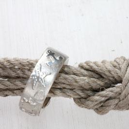 Maritimer Ring, maritime Motive, Leuchtturm, Anker, Muscheln Silber, 8,5mm breit