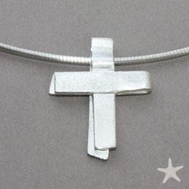 Kreuz aus Silberstreifen