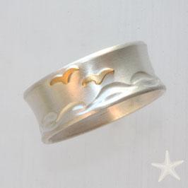 Ring mit Möwen,  9mm breit