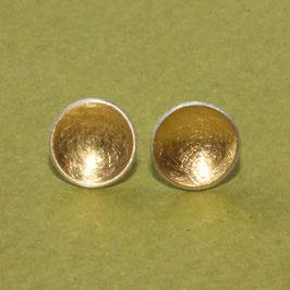 Ohrstecker Schalen,Gold, Silber, 6,5mm