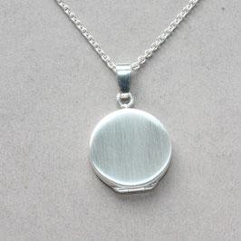 Medaillon rund 1,7cm, schlicht ,Silber