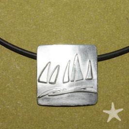 Anhänger mit Segelbooten, Silber