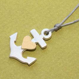 Anker mit Herz 2,5cm,Glaube Liebe Hoffnung
