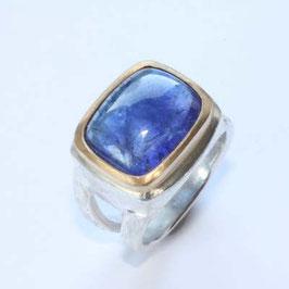 Tansanit Ring, in 925 Silber, 999Feingold
