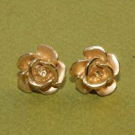 Rosen Ohrstecker,Silber vergoldet,12mm