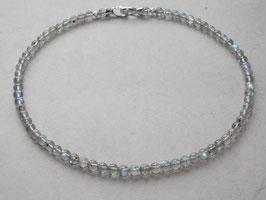Edelsteinkette, Labradoritkugeln, 6,5mm,925 Silber