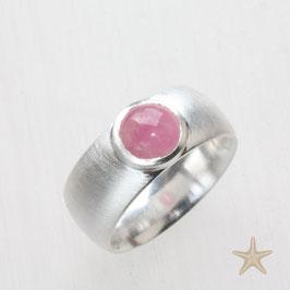 Unikat Ring handgefertigt mit Turmalin in rosa , in 925 Silber