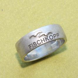 Moin Moin Ring mit Möwen und Sonne,  7mm breit