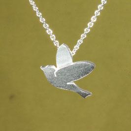 Vögelchen als Anhänger in Silber