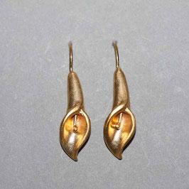 Calla Ohrhänger vergoldet,2,5cm