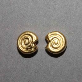 Schnecken Ohrstecker vergoldet,6mm