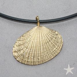 Muschel Anhänger Silber goldplattiert