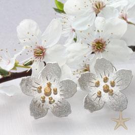 Kirschblüten Ohrstecker ,20mm