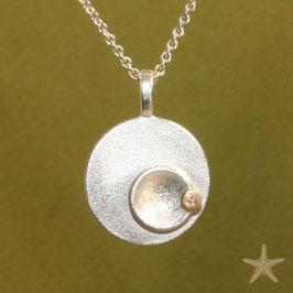 Taufanhänger mini, 1,7cm, in Silber mit Brillant