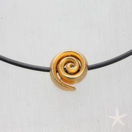 Spirale als Anhänger, 1,5cm,  Silber goldplattiert