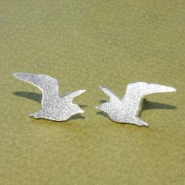 Möwen Ohrstecker, 14 mm, 925 Silber