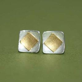 Rauten Ohrstecker,8mm oder 7mm