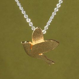 Vogel Anhänger in Silber vergoldet