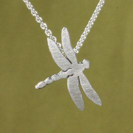 kleiner Libellen Anhänger in Silber
