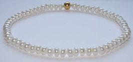Perlenkette große,ovale Boutonperlen,12x7 mm,