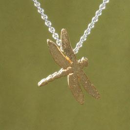 kleiner Libellen Anhänger in Silber vergoldet